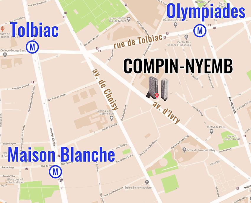 accès : Métro Olympiades, Maison Blanche. Tolbiac 47, 62, 64, 83